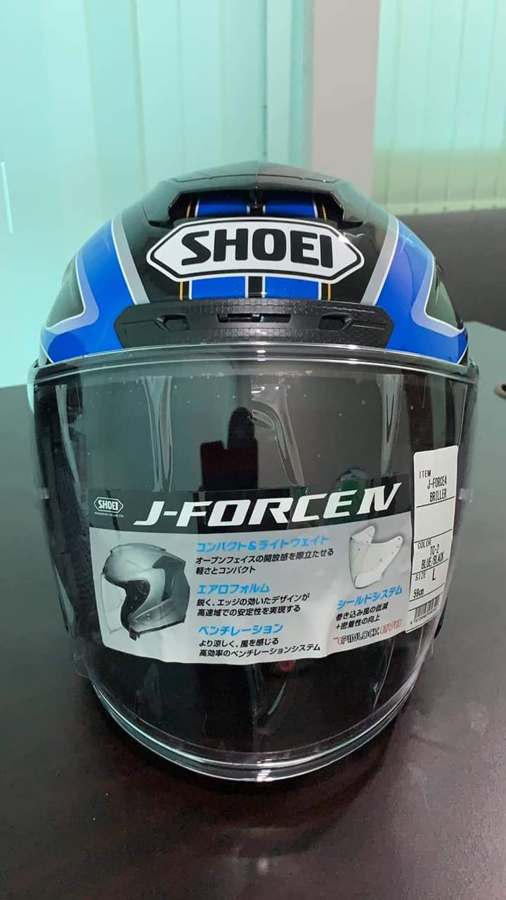 Menang Helmet Shoei J Force 4 Dengan OneXOX Black