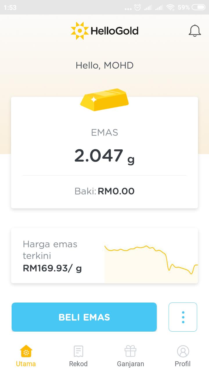 Simpan Emas Serendah RM1.00 Dengan HelloGold. Dan Dapatkan Bonus Emas Bernilai RM5 Serta Merta.